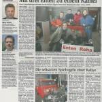 Bericht über uns in der HNA am 23.12.2010
